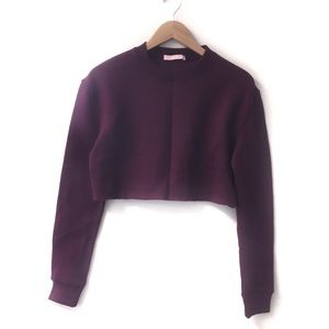 Carli Bybel x Missguided Crop top sweatshirt 2